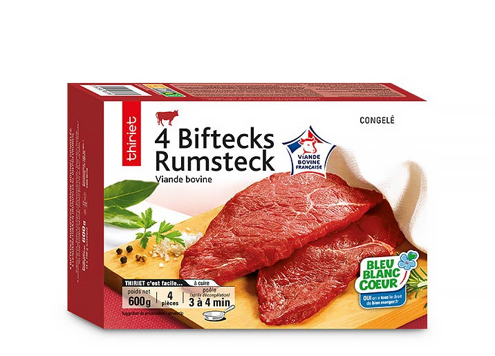 4 Biftecks rumsteck