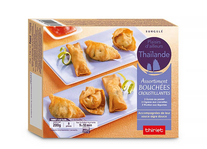Assortiment de bouchées croustillantes thaï