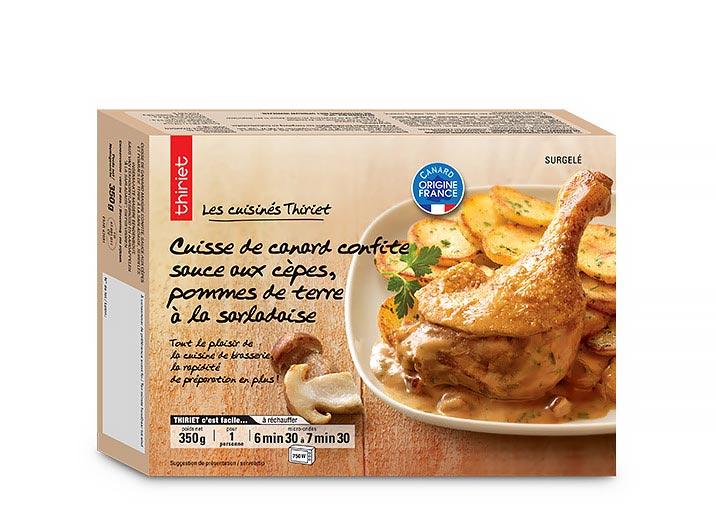 Cuisse de canard confite, sauce aux cèpes