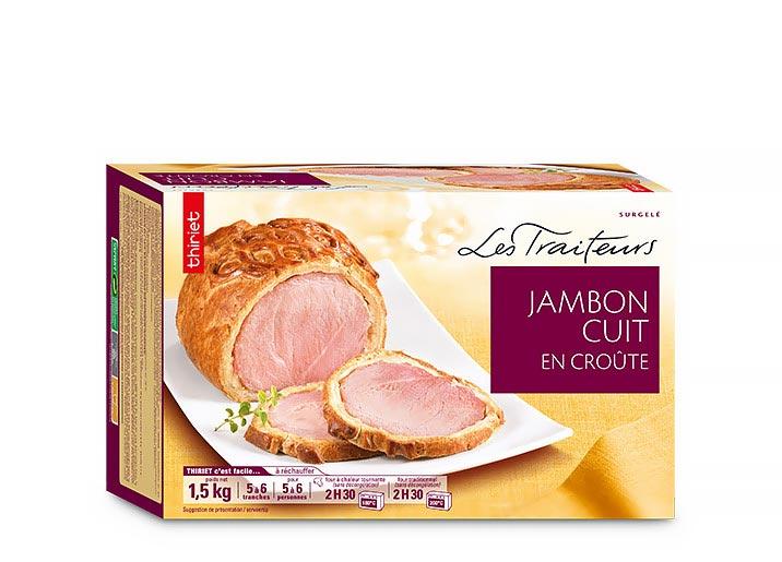 Jambon cuit en croûte