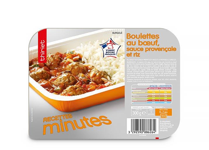 Boulettes au boeuf, sauce à la provençale et riz