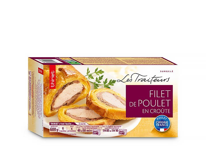 Filet de poulet en croûte