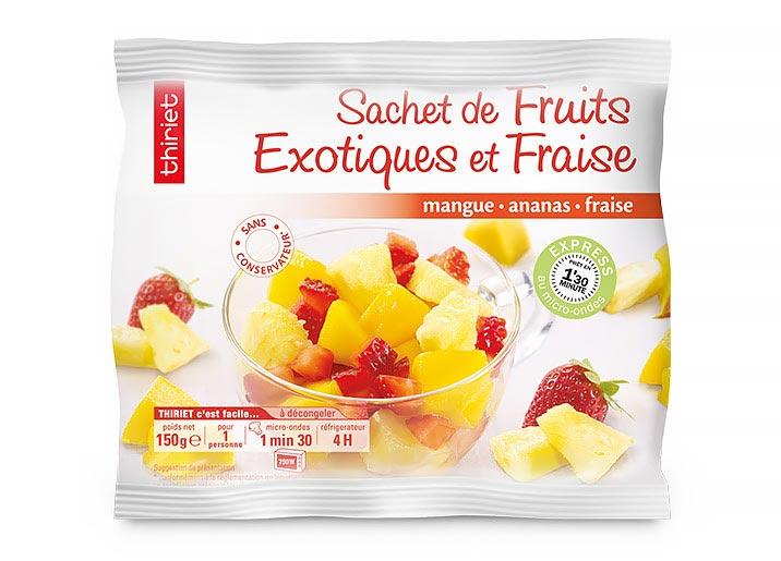 Sachet de fruits exotiques et fraises