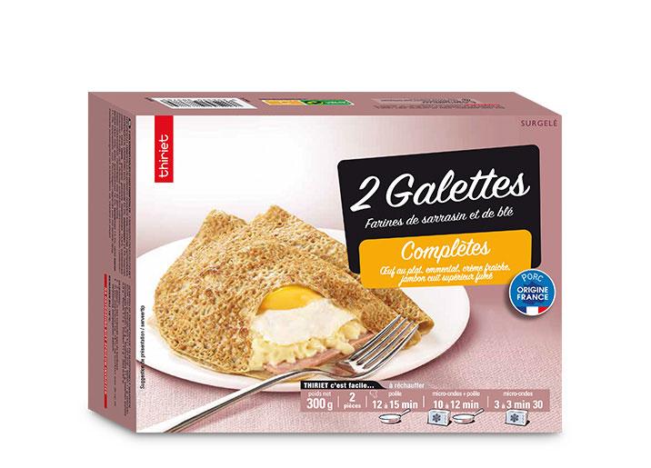 2 Galettes complètes œuf, jambon, emmental