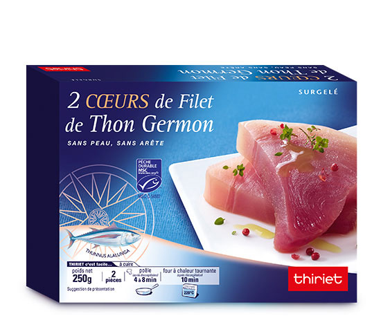 2 Cœurs de filet de thon Germon