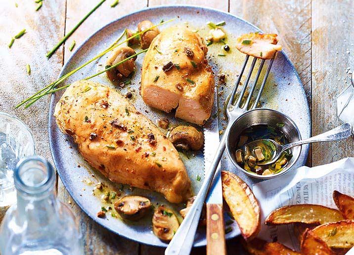 2 Filets de poulet marinés aux champignons