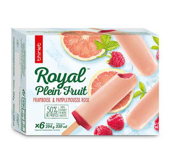 6 Royal™ Plein Fruit framboise pamplemousse rose