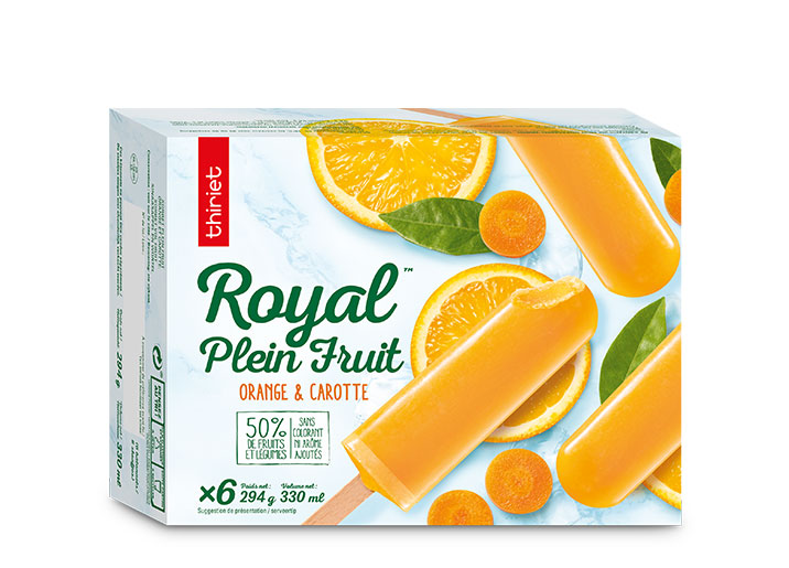 6 Royal™ Plein Fruit orange/carotte