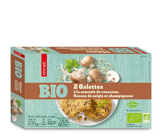 2 Galettes à la semoule de couscous biologiques