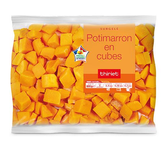 Lot de 2 x potimarron ou potiron en cubes au choix