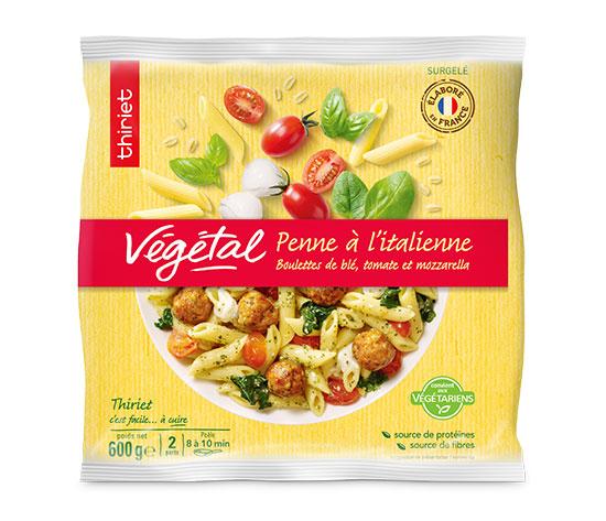Penne à l'italienne et boulettes tomate/mozzarella