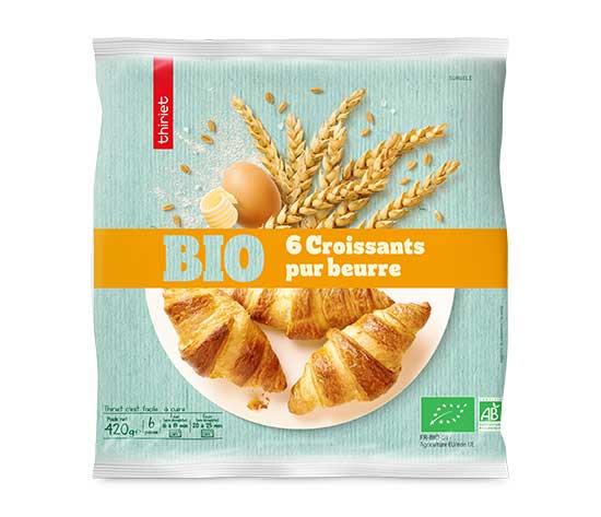 6 Croissants pur beurre biologiques