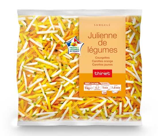 2 Juliennes de légumes