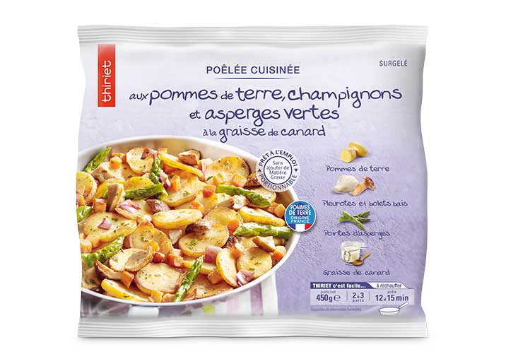 Poêlée pommes de terre champignons asperges