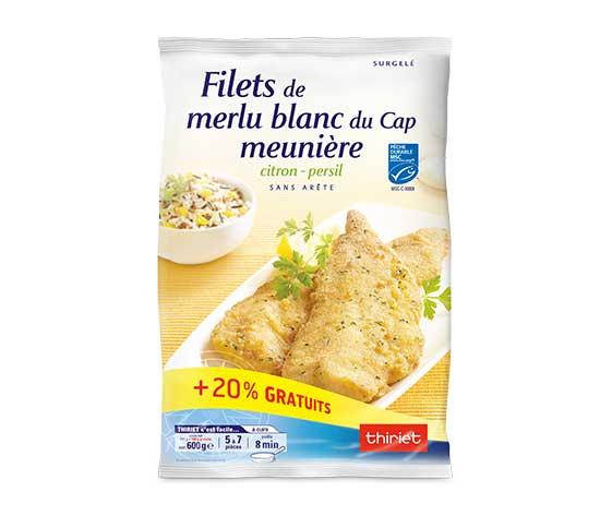 Filets de merlu blanc Cap meunière - Maxi format