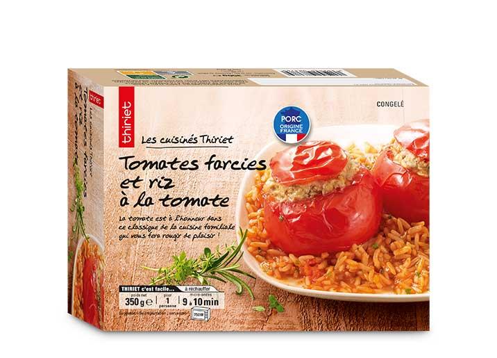 Tomates farcies et riz à la tomate