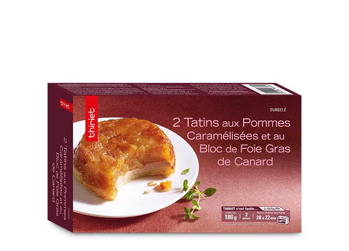 2 tatins aux pommes et foie gras de canard