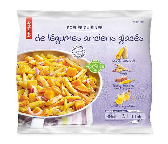 Poêlée cuisinée de légumes anciens glacés