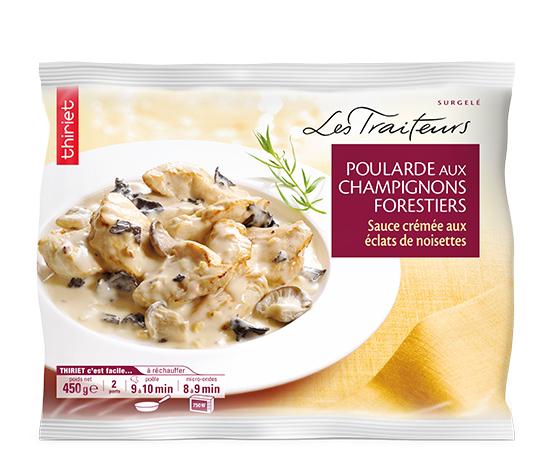 Poularde champignons forestiers, sauce crémée