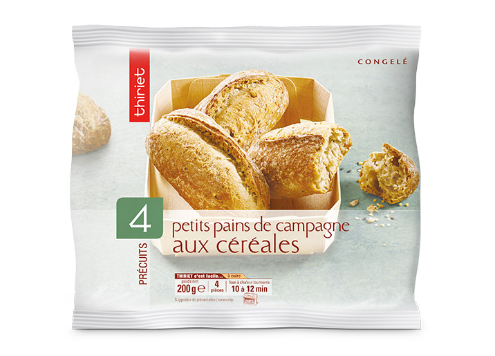 4 Petits pains de campagne aux céréales