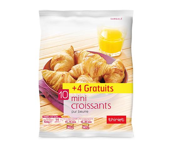 14 Mini croissants pur beurre - Maxi format