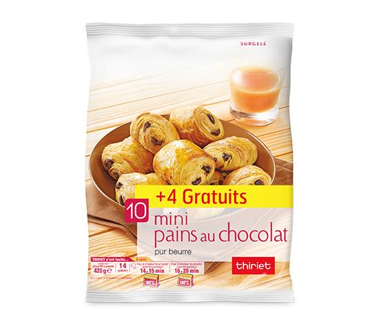 14 Mini pains au chocolat pur beurre - Maxi format