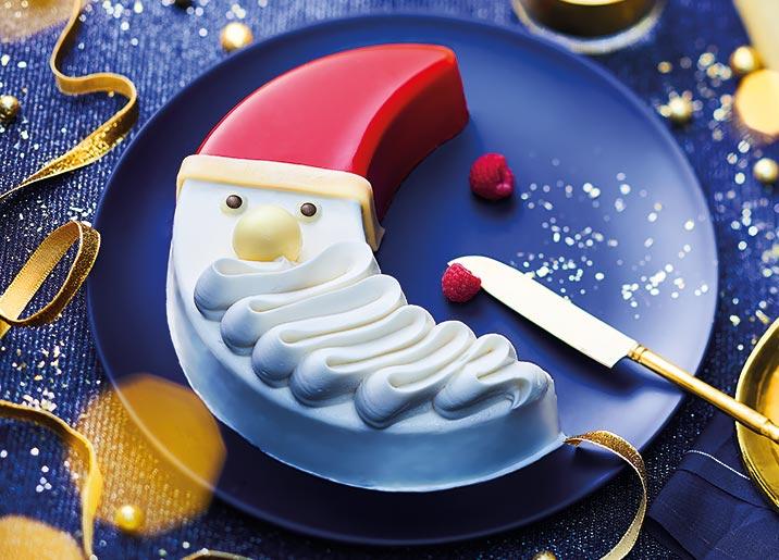 La bûche du Père Noël - chantilly/fruits rouges