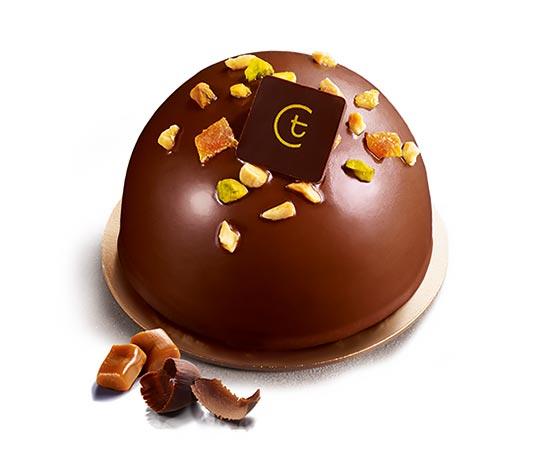 2 Dômes chocolat/caramel
