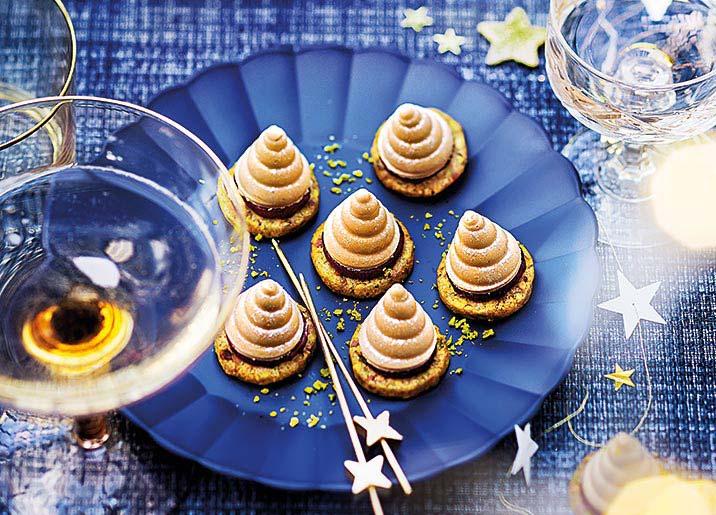 6 mini sapins au bloc de foie gras de canard