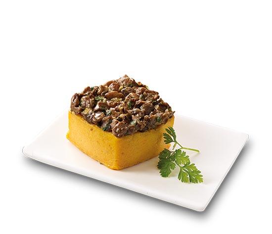 2 Flans patate douce champignons foie gras