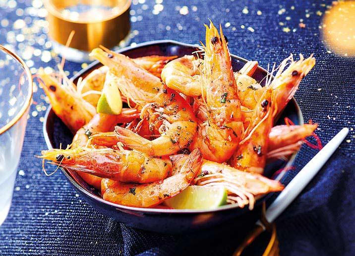 Crevettes entières crues