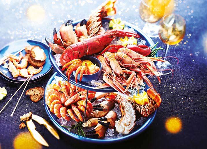 Crevettes entières cuites