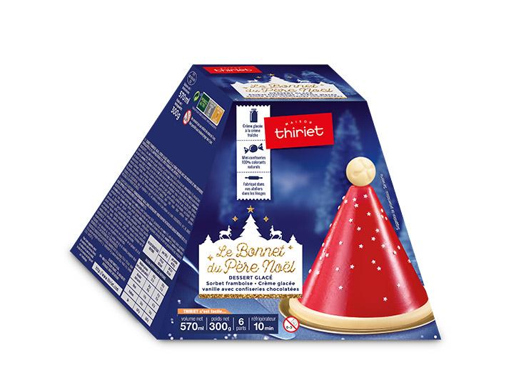 Le bonnet du Père Noël framboise/vanille bonbons