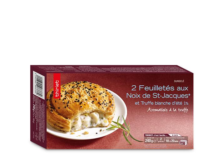 2 Feuilletés aux noix de St-Jacques et truffes