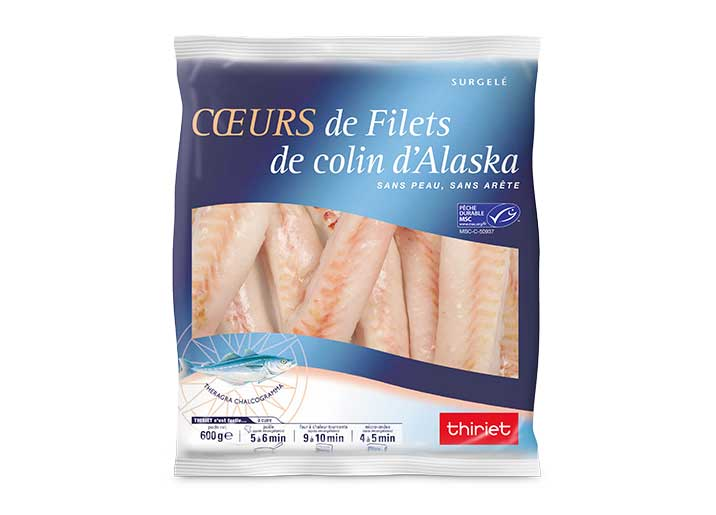 Cœurs de filets de colin d'Alaska