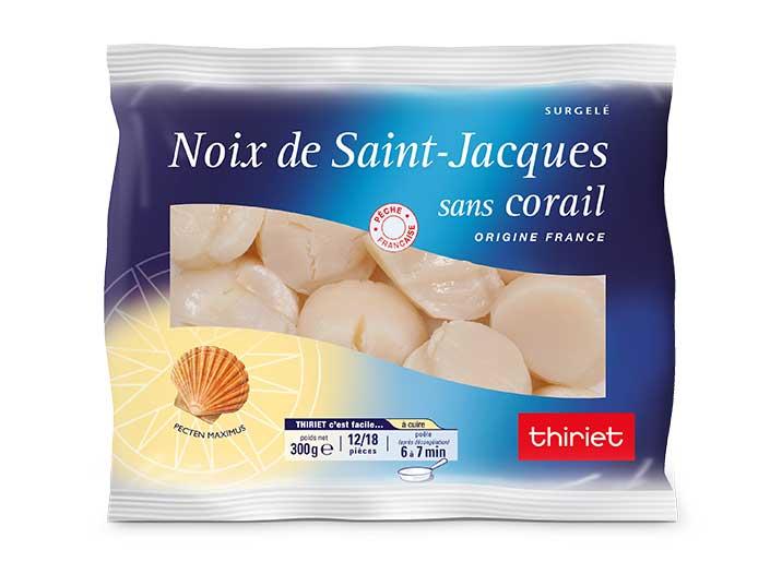 Noix de Saint Jacques sans corail