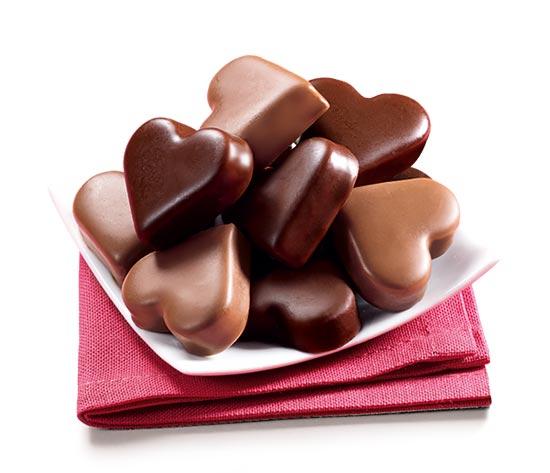 Amuses cœurs glacés vanille/chocolat