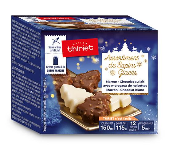 Assortiment de sapins glacés marron/chocolat