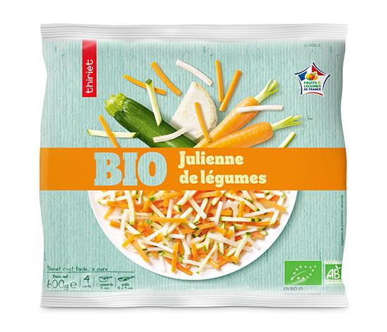 Lot de 2 x 1 Julienne de légumes biologique