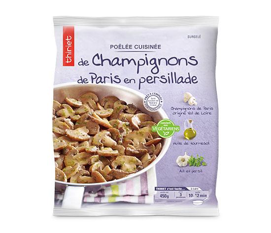 Poêlée de champignons de Paris en persillade