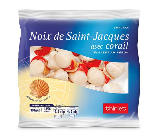 2 sachets de Noix de St-Jacques avec corail - 13/26 pièces