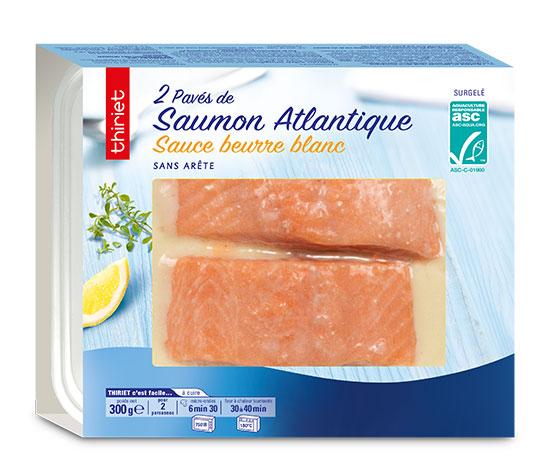 2 Pavés de saumon Atlantique sauce beurre blanc