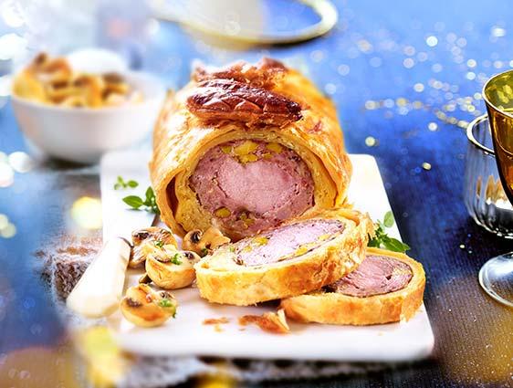 Filet mignon de porc en croûte