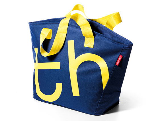 City Bag Bleu nuit-Jaune