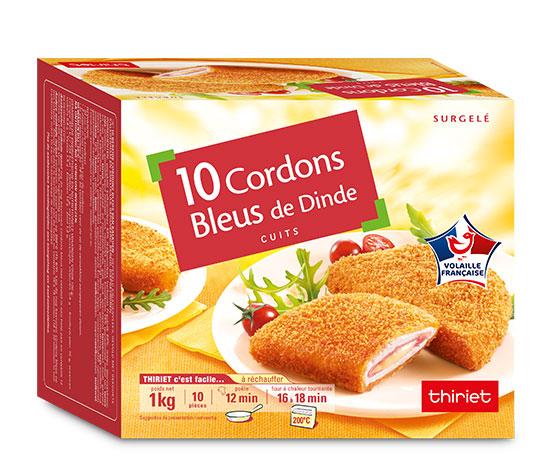 20 Cordons bleus de dinde cuits