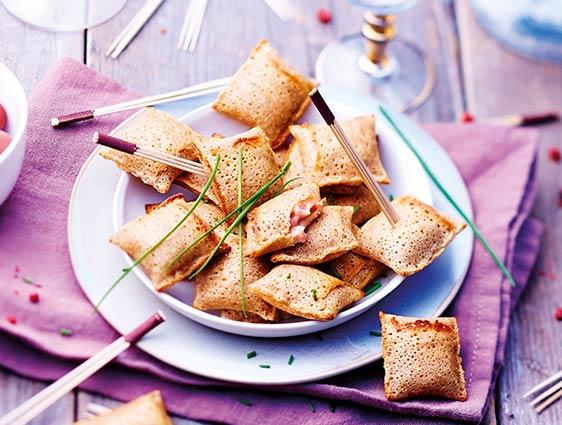 Mini galettes jambon-emmental