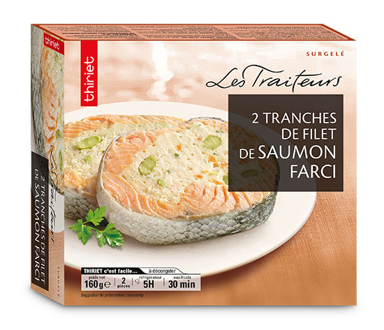 2 Tranches de filet de saumon farci