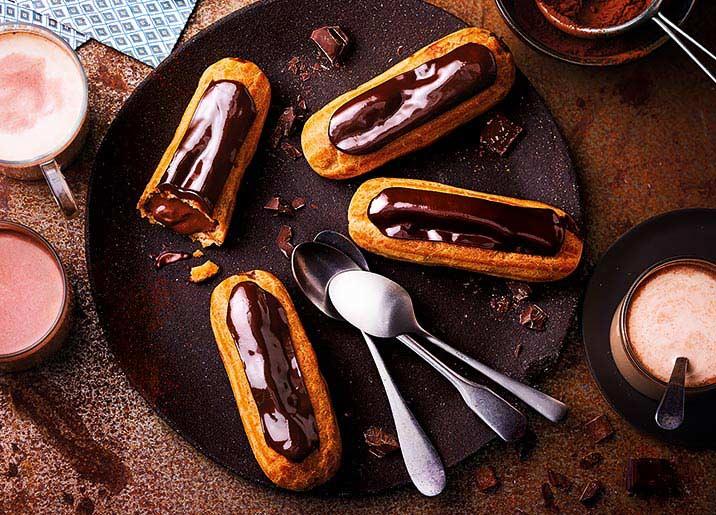 4 Eclairs au chocolat