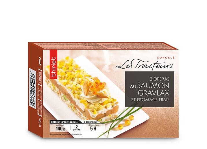 2 Opéras au saumon gravlax et fromage frais