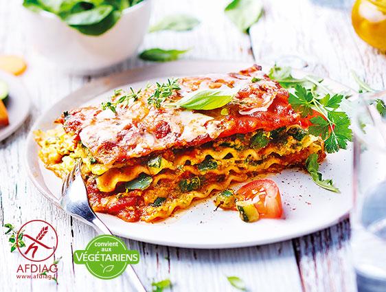 Végétarien - Lasagnes aux légumes sans gluten